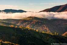 Foto Bewölkte Berge