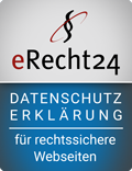 Bild: eRecht24 Siegel Datenschutzerklärung