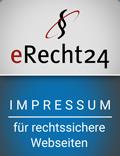 Bild: eRecht24 Siegel Impressum