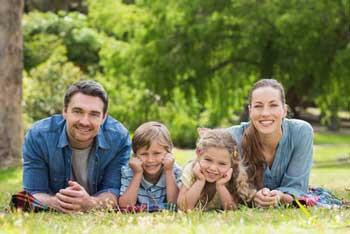 Foto Familie im Park