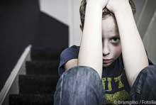 Foto Trauriger Junge